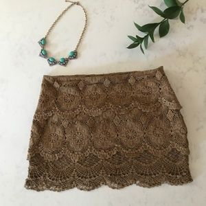 Altar'd State - Lace Mini Skirt- Size M